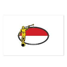 Monaco Mission - Monaco Flag - Angel Moroni - LDS
