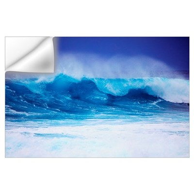 Hawaii, Oahu, Beautiful Wave Breaking Wall Decal
