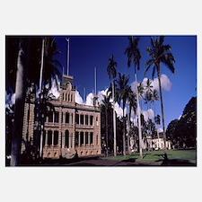 Facade of a palace, Iolani Palace, Honolulu, Oahu,