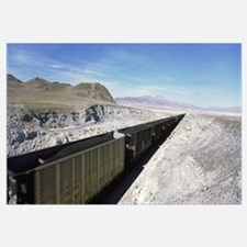 Freight train in a desert, Trona, San Bernardino C