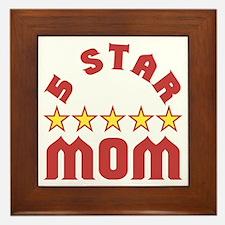 5 Star Mom Framed Tile