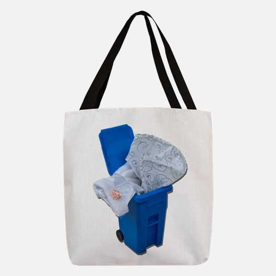 WhiteDressRecycleBin122111.png Polyester Tote Bag