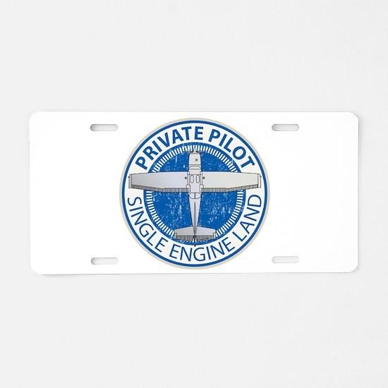 Aviation Private Pilot Aluminum License Plate