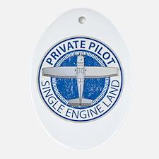 Aviation Private Pilot Ornament (Oval)