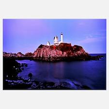 Lighthouse at a coast, Nubble Lighthouse, Cape Ned