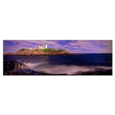 Lighthouse at a coast, Nubble Lighthouse, Cape Ned Canvas Art