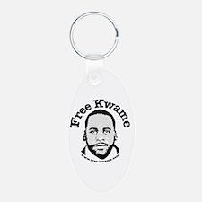 Free Kwame - Round Keychains