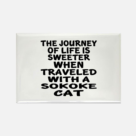 Traveled With sokoke Cat Rectangle Magnet