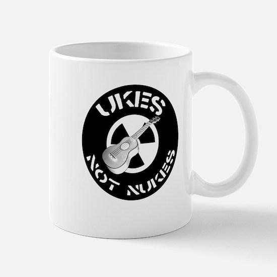 Ukes Not Nukes Mug