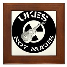 Ukes Not Nukes Framed Tile