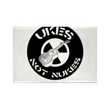 Ukes Not Nukes Rectangle Magnet
