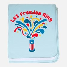Let Freedom Ring baby blanket