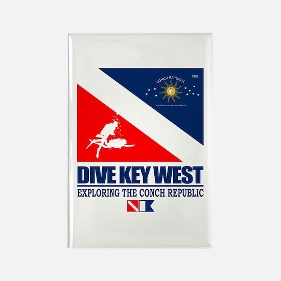 Dive Key West Rectangle Magnet