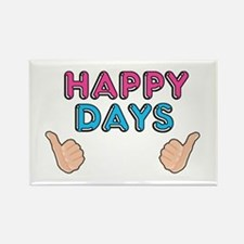 'Happy Days' Rectangle Magnet