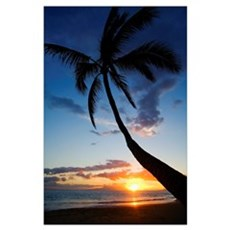 Hawaii, Maui, Kihei, Sunset At Kamaole Beach Poster