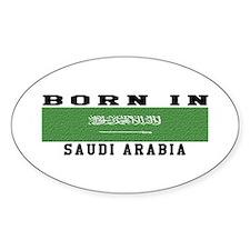 Born In Saudi Arabia Decal