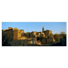 Medieval buildings in a town, Orvieto, Umbria, Ita Poster