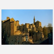 Medieval buildings in a town, Orvieto, Umbria, Ita