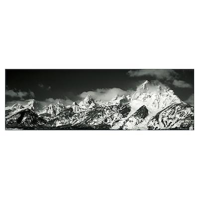 Mountain range, Grand Teton National Park, Wyoming Poster