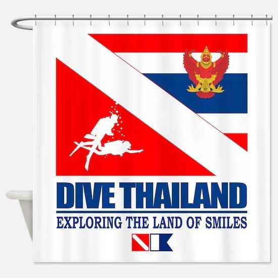 Dive Thailand Shower Curtain
