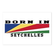 Born In Seychelles Postcards (Package of 8)