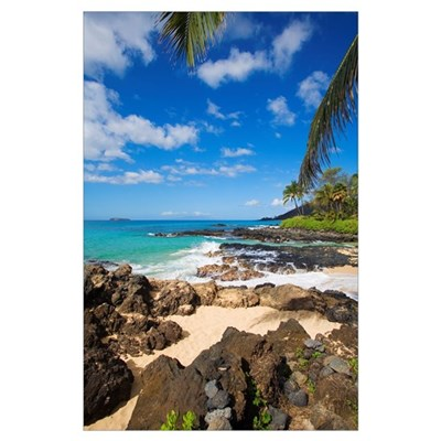 Hawaii, Maui, Makena, Maui Wai Or Secret Beach And Poster