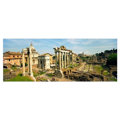 Old ruins of a temple, Temple Of Saturn, Roman For Canvas Art