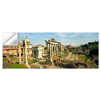 Old ruins of a temple, Temple Of Saturn, Roman For Wall Decal