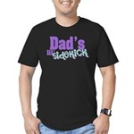 Dad's Lil' Sidekick Men's Fitted T-Shirt (dark)