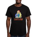 borntofish.png Men's Fitted T-Shirt (dark)