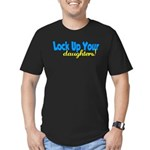 lockupyourdaughters.png Men's Fitted T-Shirt (dark