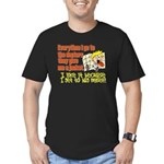 hugmyself.png Men's Fitted T-Shirt (dark)