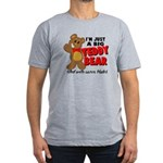 Big Teddy Bear Men's Fitted T-Shirt (dark)