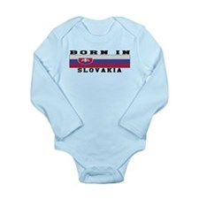 Born In Slovakia Long Sleeve Infant Bodysuit