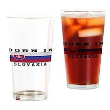 Born In Slovakia Drinking Glass
