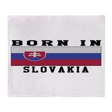 Born In Slovakia Throw Blanket