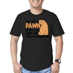 Cat's World Domination Men's Fitted T-Shirt (dark)