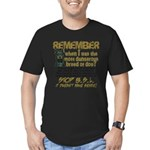 Remember when? Men's Fitted T-Shirt (dark)