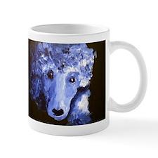 Blue Poodle Small Mug