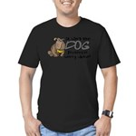 dogworry2.png Men's Fitted T-Shirt (dark)