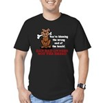 Ban Bad Owners Men's Fitted T-Shirt (dark)