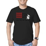 I Get the Bad Rap? Men's Fitted T-Shirt (dark)