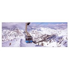 Overhead cable car in a ski resort, Snowbird Ski R Poster