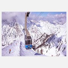 Overhead cable car in a ski resort, Snowbird Ski R