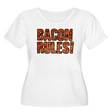 BACON RULES! T shirt Plus Size T-Shirt