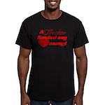 Trucker Hauled My Hear Men's Fitted T-Shirt (dark)