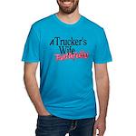 A Trucker's Wife - Fai Men's Fitted T-Shirt (dark)