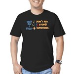 whyfish.png Men's Fitted T-Shirt (dark)