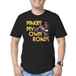 OWN ROADS.png Men's Fitted T-Shirt (dark)
