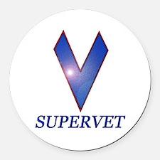 Supervet Round Car Magnet